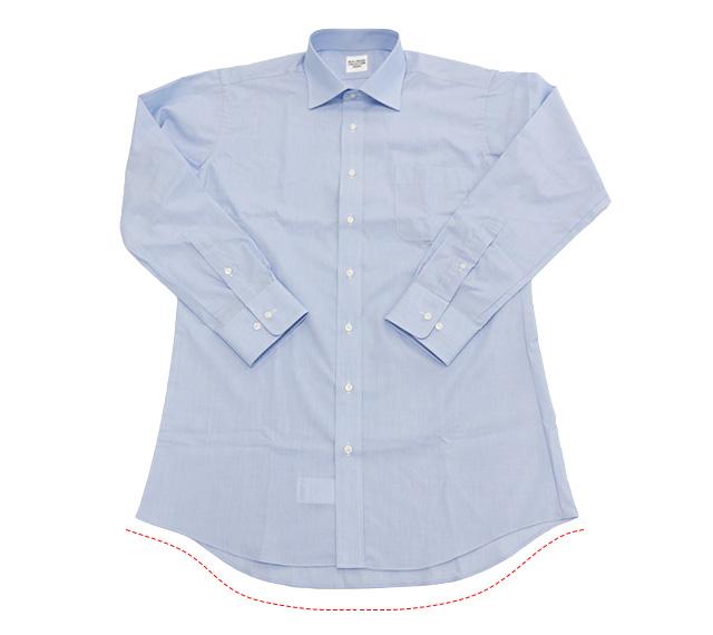 ワイシャツ 横向き